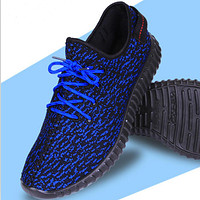 Adidas Women Yeezy Boost Sneakers Running Sports Shoes Blue