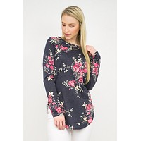 Hi Low Tunic Floral Top