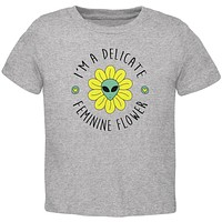 Halloween I'm a Delicate Feminine Flower Alien Toddler T Shirt