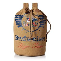 Buxton Budweiser Eagle Wings Drawstring Bucket Bag