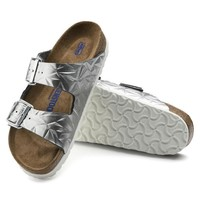Sale Birkenstock Arizona Soft Footbed Leather Spectral Silver 1008479/1008480 Sandals