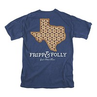 Texas Shotgun Shell Tee in True Navy by Fripp & Folly