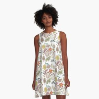 'Hedgehog Field' A-Line Dress by DoucetteDesigns