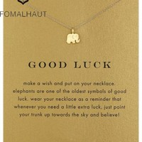 Lucky Elephant Pendant Necklace