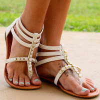 The Aphrodite Sandal, White