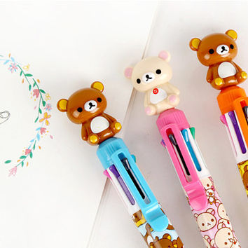 Rilakkuma 8colors ballpoint pen / korean stationery
