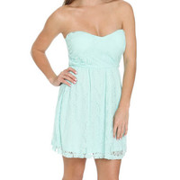 Sweetheart Lace Tube Dress   Shop Just Arrived at Wet Seal