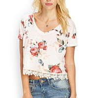 Crocheted Floral Tee