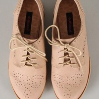Dollhouse Joey Perforated Lace Up Oxford Flat