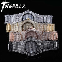 Fashion Accessories and Jewelry  Iced Out Diamond Watch Quartz Gold