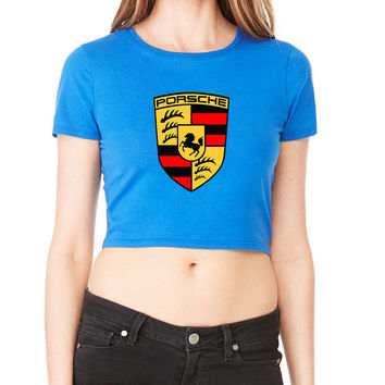Porsche Racing Emblem Crop T-Shirt