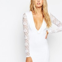 ASOS Lace Sleeve Mini Bodycon Dress