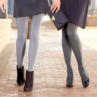 2 Pair Fleece Lined Tights-Footed or Unfooted. Sized S-2XL.
