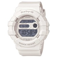 Casio BGD140-7A Women's Baby-G White Resin Alarm Dual Illuminator EL Backlight Watch