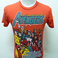 New Avengers Earth's Mightiest Heroes Marvel Comics T-Shirt Sz-M
