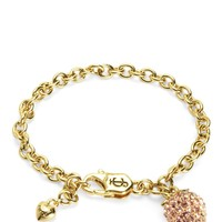Gold Pave Strawberry Charm Bracelet by Juicy Couture, O/S