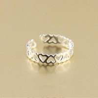 Sterling Silver Hollow Heartshaped Ring by forevervintage on Zibbet
