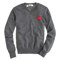 J.Crew Womens Play Comme Des Garcons V-Neck Sweater