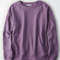 AE Lived & Loved Crew Sweatshirt, Purple