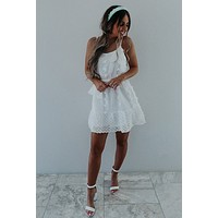 Wait Forever Dress: White