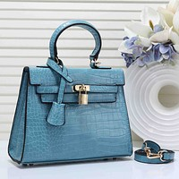 Hermes New fashion texture leather shoulder bag handbag women