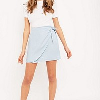 BDG Cassidy Chambray Wrap Skirt - Urban Outfitters