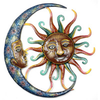 24 inch Painted  Sun and Moon - Croix des Bouquets