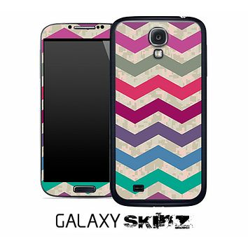 Vintage Camo Colorful Chevron Pattern Skin for the Galaxy S2, S3 or S4
