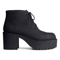 H&M - Platform Shoes - Black - Ladies