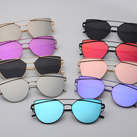 Retro Aviator Mirror Sunglasses