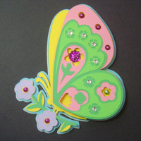 Mother's Day Butterfly Cut Out Card in Multicolored Pastels - Cards for Mom - Mother's Day Cards