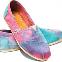 Pink and Blue Tie Dye Women's Classics