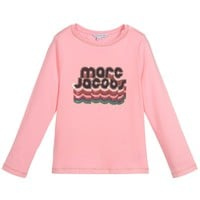 Marc Jacobs Girls Pink Logo Sequins Top