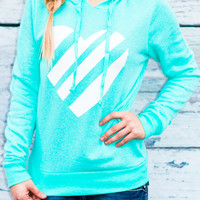 WHAT THE HEART WANTS HOODIE IN MINT