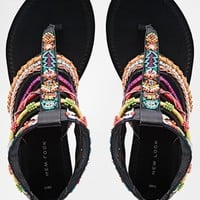 New Look Fascinate Tribal Gladiator Flat Sandals