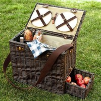 Rattan Picnic Trunk for 4