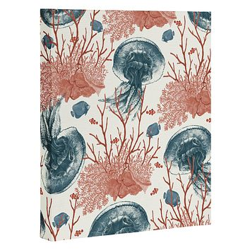 Belle13 Coral And Jellyfish Art Canvas