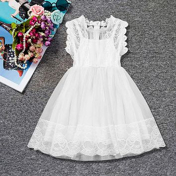 Toddler Girl Summer Dresses Baby Kids Clothes For Girls Party Dress Children Princess Boutique Clothing Birthday Outfits 7 T