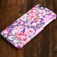 Violet Pink Floral Pattern iPhone 6s Plus/6/5S/5C/5/4S/4 Protective Case #417