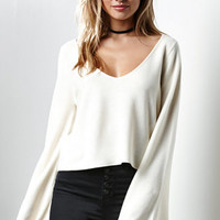 Honey Punch V-Neck Bell Sleeve Pullover Sweater at PacSun.com