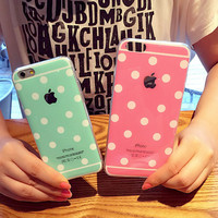 Newest Fashion Luxury Cute Candy Colors Dot  For iphone 6 5 5s 6 plus Case TPU Phone Cases Back Covers