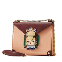 Indian Chain-Style Flap Crossbody Bag