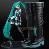 Another Me Vocaloid MEIKO KAITO Cosplay Costume Shoes Boots Custom Made
