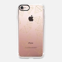Casetify iPhone 7 Classic Grip Case - Golden Crystals by Allison Reich #iPhone 7