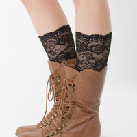 Frilly - Black Lace Boot Cuff Socks
