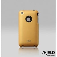 SHIELD Apple 3G 3GS iPhone Shield Polycarbonate Slim Fit Case + Microfiber Cleaning Cloth (Champagne Gold)