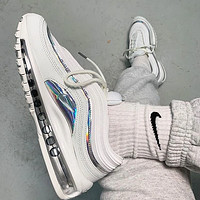 N Nike Air Max 97 'White Iridescent' New Couple Casual Reflective Logo Air Cushion Sneakers