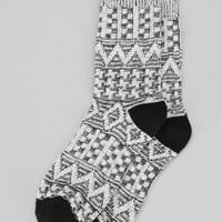 Textured Zigzag Cap Sock