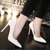 Classic women shoes red sole High heel Ladys sexy stiletto valentine High heels Party shoes woman pumps Size 35-41