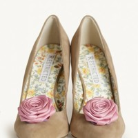 Dainty Rosebud Shoe And Hair Clips